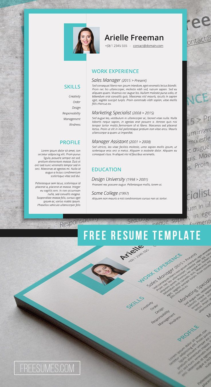 Creative Resume Template Freebie | Colors and Shapes #creative #free