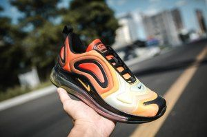 reputable site 6e587 3ece2 Nike Air Max 720 Yellow Orange Brwon Women s Casual Shoes
