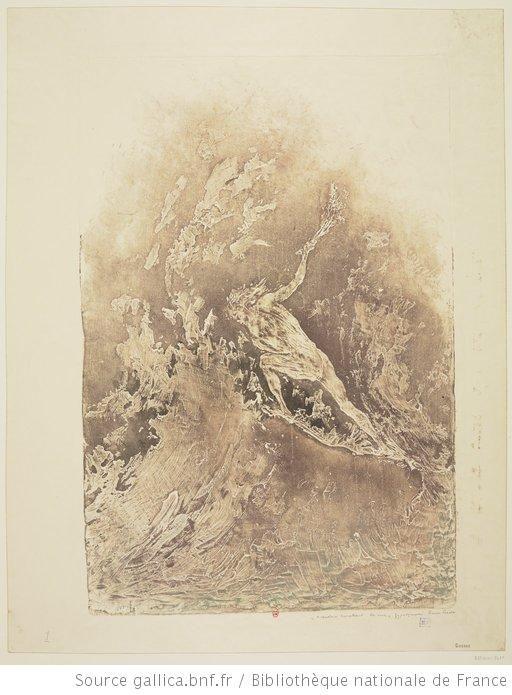 L' Ankou barattant la mer : [estampe] / gypsographie Pierre Roche - 1