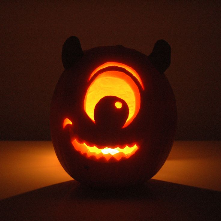 Mike Wazowski Pumpkin, monsters inc Disney