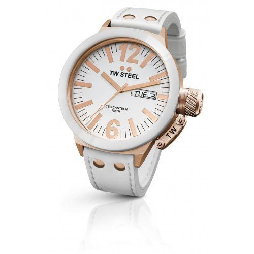 TW Steel Women's White Ceramic Bezel Watch