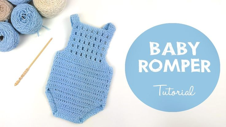 How To Crochet Baby Romper / Onesie | Croby Patterns