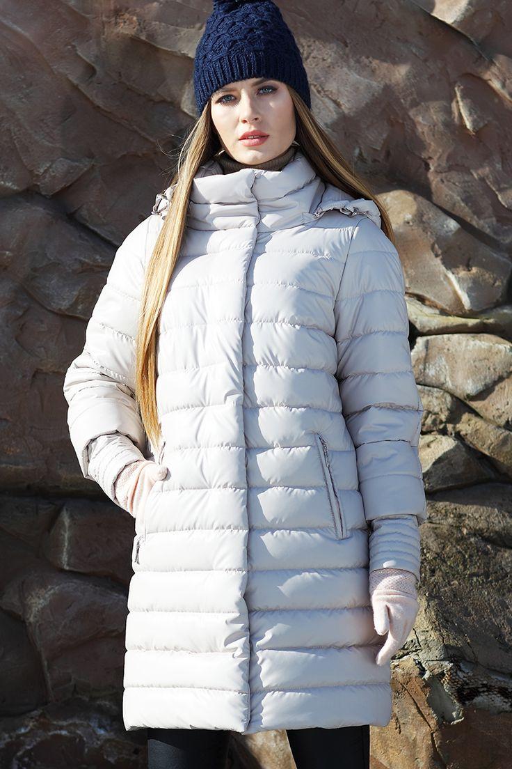 Зимний пуховик полупальто Анетта от Nui Very - пальто зима 2017-2018, куртка женская 2017 зима, длинная куртка женская, пуховик с коротким рукавом