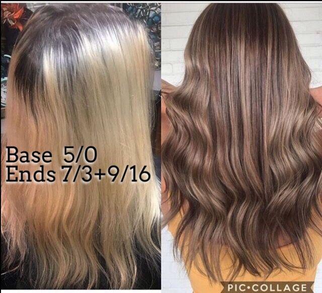 Ashy brown Wella color formula