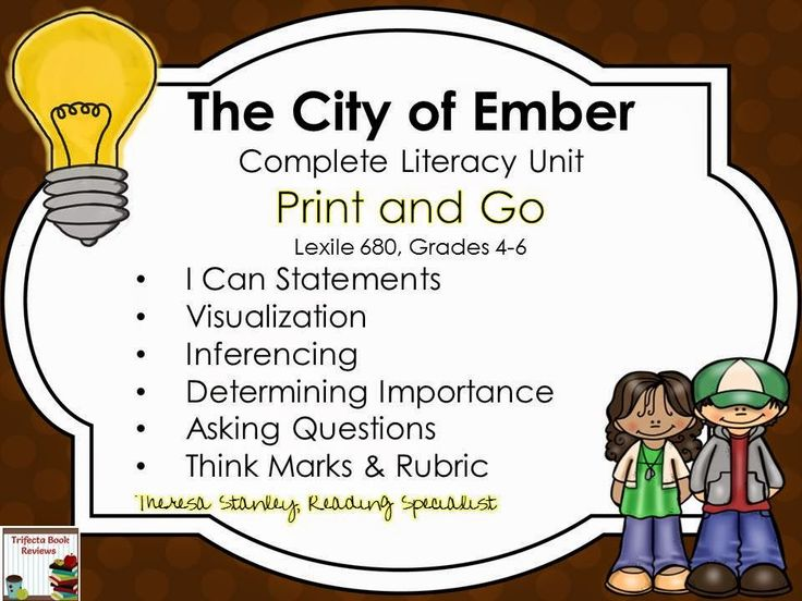 The City of Ember Complete Literacy Unit