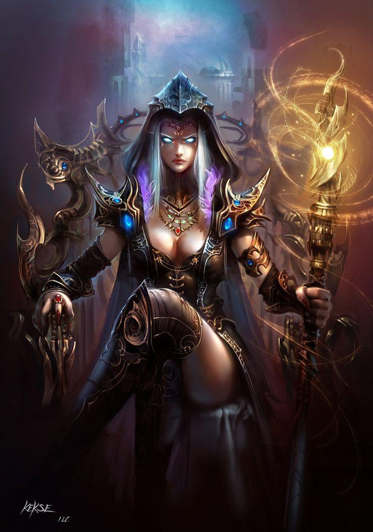 Картинки девушек темные маги