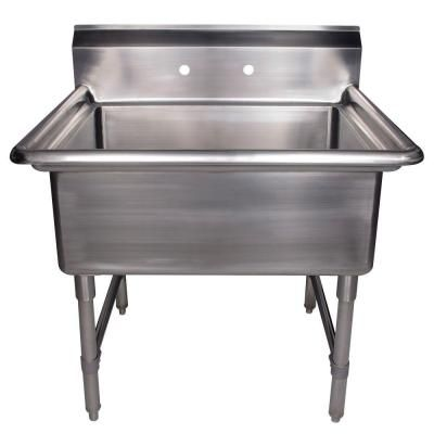 Whitehaus Collection 36 in. x 30 in. x 40 in. Stainless Steel Freestanding Utility Sink-WHLS3024-C - The Home Depot