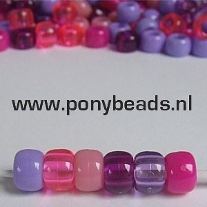 Haarkralen mix bessen / Pony Beads Berry Mix
