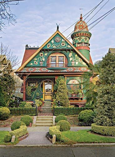 519 Best Images About Colorful Victorian Houses From San