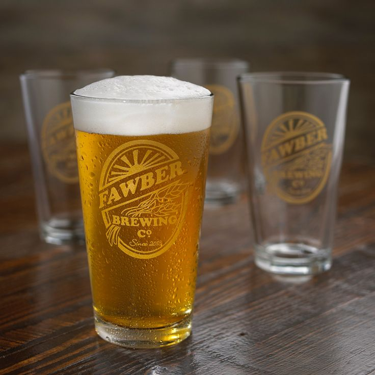 personalized beer glasses - Google Search