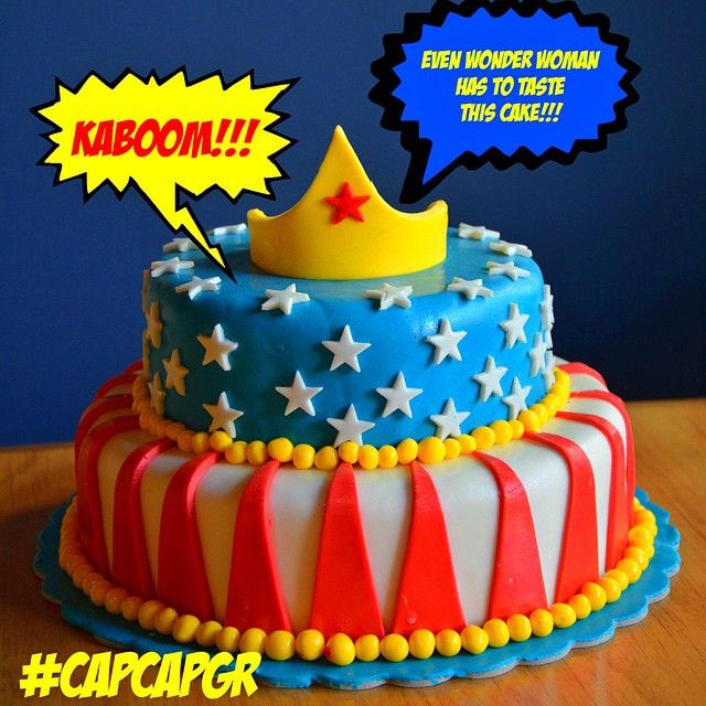 Super Power Cakes!  Η Wonder Woman, ο Batman, ο Superman και άλλοι πολλοί υπερήρωες μεταμορφώθηκαν σε τούρτες ωστε να έρθουν στο κουτάλι σας!
