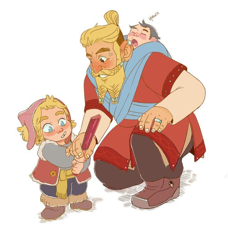 Маленькие Фили И Кили со своим отцом