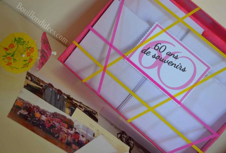 Offrir une boîte à souvenirs pour les 60 ans (idée de cadeau d'anniversaire personnalisé)