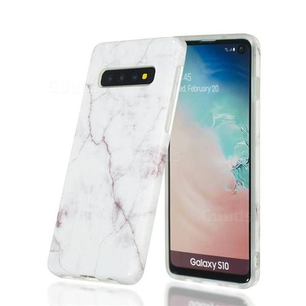 White Smooth Marble Clear Bumper Glossy Rubber Silicone Phone Case For Samsung Galaxy S10 6 1 Inch Gu In 2021 Galaxy Phone Cases Cool Phone Cases Silicone Phone Case