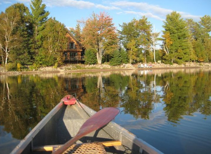 http://www.cottagecountry.com/peggys-point-fireplace-and-sunsets-cottage-haliburton-on/ Go Canoeing at this Lakeside Retreat in Haliburton, Ontario!