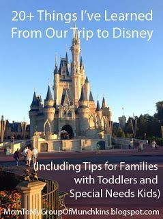 Great tips for visiting Disney World with toddlers, including children with special needs