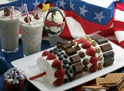 How cute is this firecracker cake??!!: Idea, Hershey S Firecracker, Cakes, Food, 4Th Of July, July 4Th, Cake Recipes, Firecracker Cake, Dessert