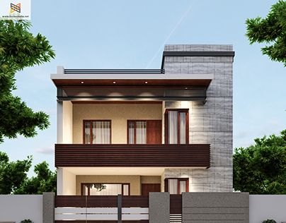 "Check out new work on my @Behance portfolio: ""250 Yards House Elevation"" http://be.net/gallery/41440833/250-Yards-House-Elevation"