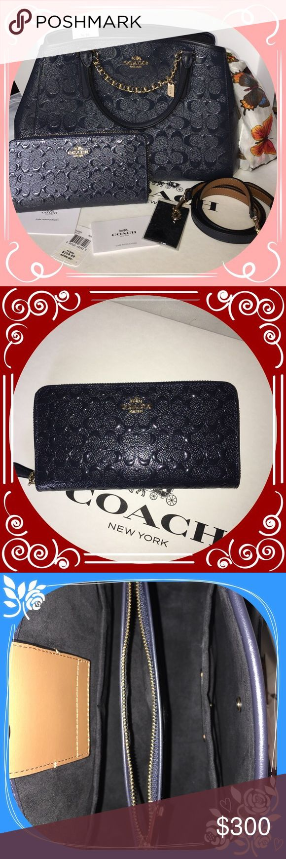 💖COACH MARGOT PURSE AND WALLET New with tags & care cards. Coach Bags Satchels