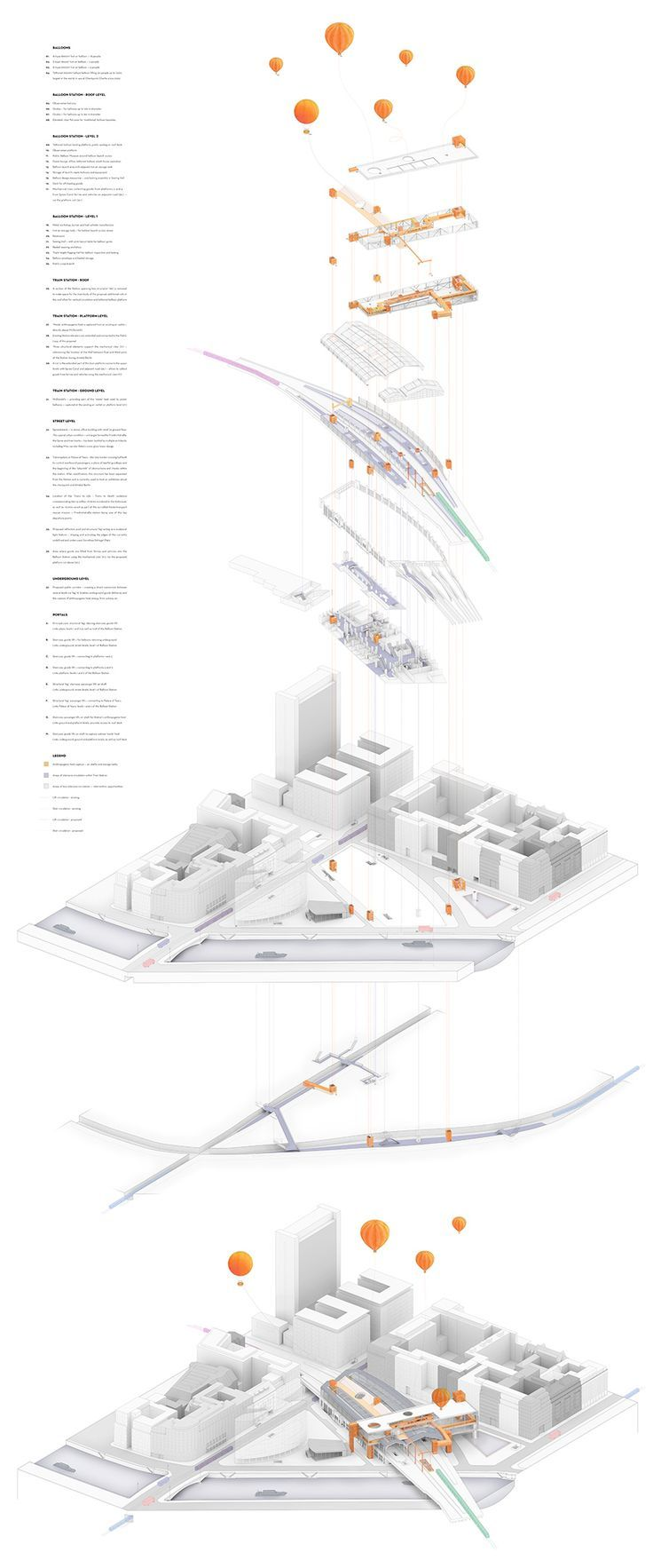 010_Exploded-axonometric_relationship-between-Balloon-Station-and-context-on-all-levels: