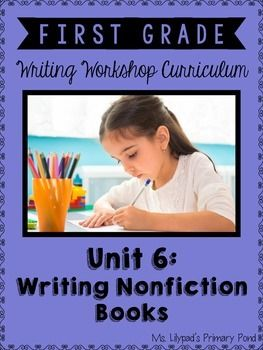 Nonfiction writing for firsties!  4 weeks of ready-to-go minilessons and materials. $