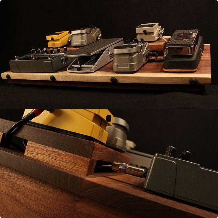 Walnut guitar effects pedal board...powered, shielded