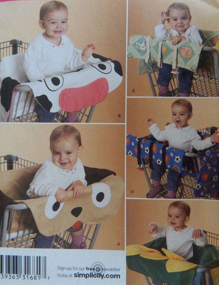 Grocery Cart Covers Sewing Pattern/ Simplicity 2920/ 5 Cart Options/ grocery cart linner, cow, puppy, flower,activity center,boy,girl /Uncut by RedWickerBasket on Etsy