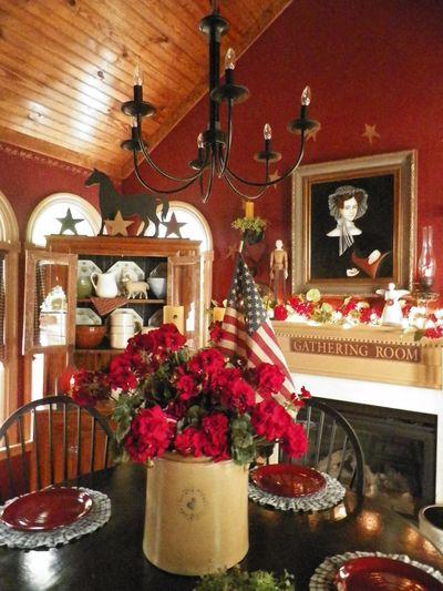 Beautiful Primitive Dining Room