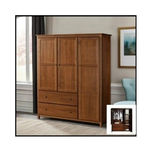 Bedroom-Wardrobe-Armoire-Closet-Cabinet-Wood-Furniture-Storage-Drawer-Dresser-TV