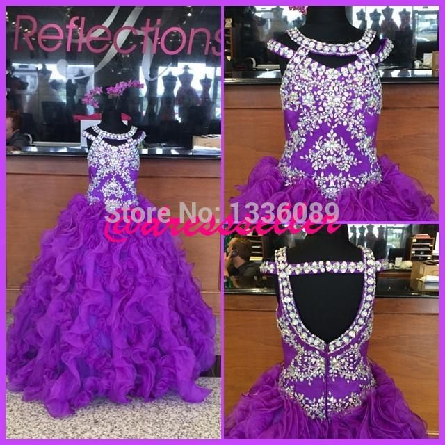 Find More Flower Girl Dresses Information about Purple Beading Shiny Dazzling Sexy Noble Attractive Long Girl's Pageant Dresses Floor Length Zipper Back Little Girl Party Gown,High Quality gown kids,China dress up wedding gowns Suppliers, Cheap dress australia from orient201 on Aliexpress.com