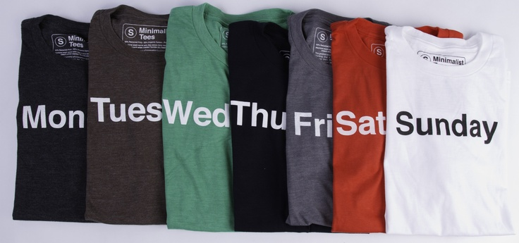For $110, you can buy a t-shirt for every day of the week from Minimalist Tees.