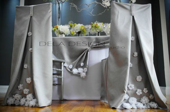 Spring 2015 collection Silver Silk Dupioni by DelaDesignStudio