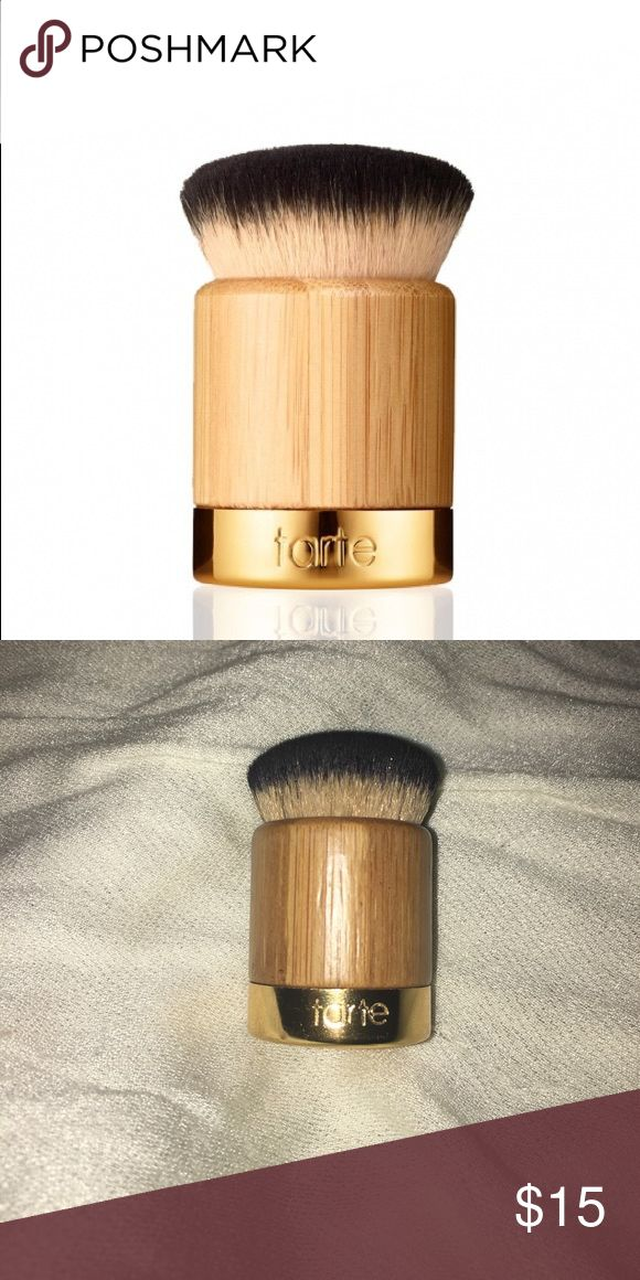 airbuki bamboo powder foundation brush 4 1/2 🌟 airbuki bamboo powder foundation brush by Tarte.  Product performance: Budd your way with airbrushed complexion perfection with the new airbuki bamboo powder foundation brush! The perfect complement to the Amazonian clay full coverage airbrush foundation, this soft, versatile, cruelty-free brush allows you to flawlessly apply powder foundation like a pro. tarte Makeup Brushes & Tools