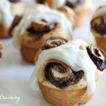 Nutella Rolls with Cream Cheese Icing  My love would love these!! =)