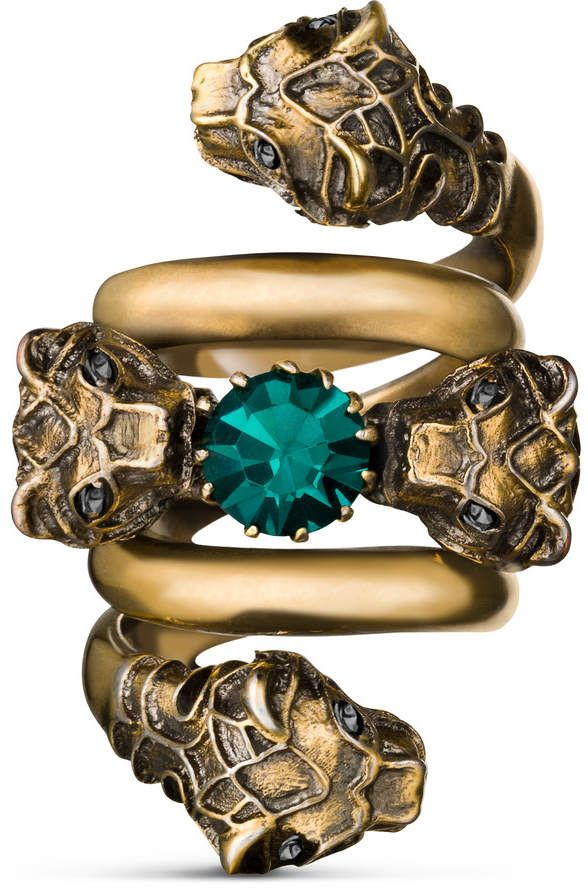ee6840583 Double wrap ring with tiger heads | Galaxy-Jewellery.com | Rings ...