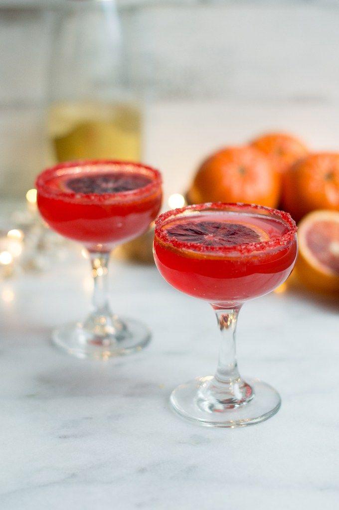 blood orange champagne cocktail | superman cooks