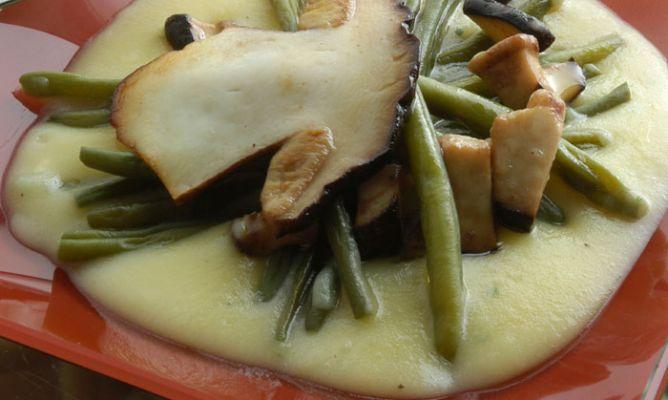 Receta de Judías verdes con crema ligera de patata - Karlos Arguiñano