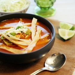 El Chico Tortilla Soup Recipe <3  Ingredients       4     chicken bouillon cubes         4     cups boiling water         10     oz chicken breasts         6     oz of tomato paste         5     tablespoons hot sauce         1     tablespoon chili powder         1     tablespoon dried onion flakes         1     teaspoon lime juice         4     oz white cheddar cheese         4     oz tortilla chips         2     avocados    Directions 1.Boil 4 cups water in a saucepan. Dissolve the bouillon…