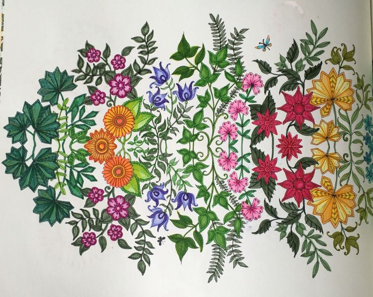Secret Garden Coloring Book Tom Bow Markers