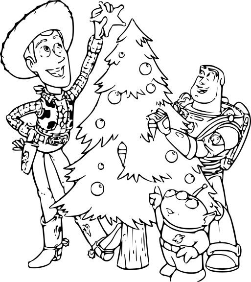Coloriage Toy Story Noel | Coloriage toy story, Pages de coloriage