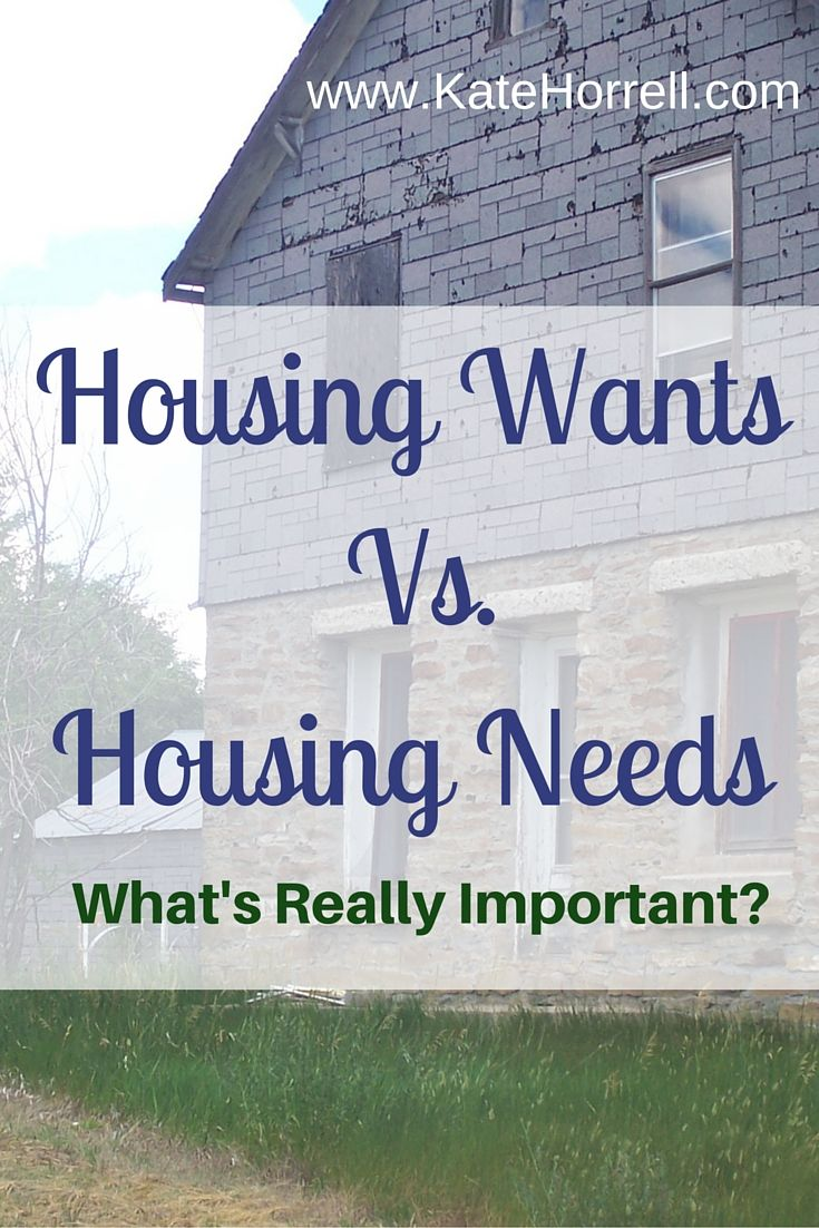 Defining your housing needs makes house hunting a lot easier.