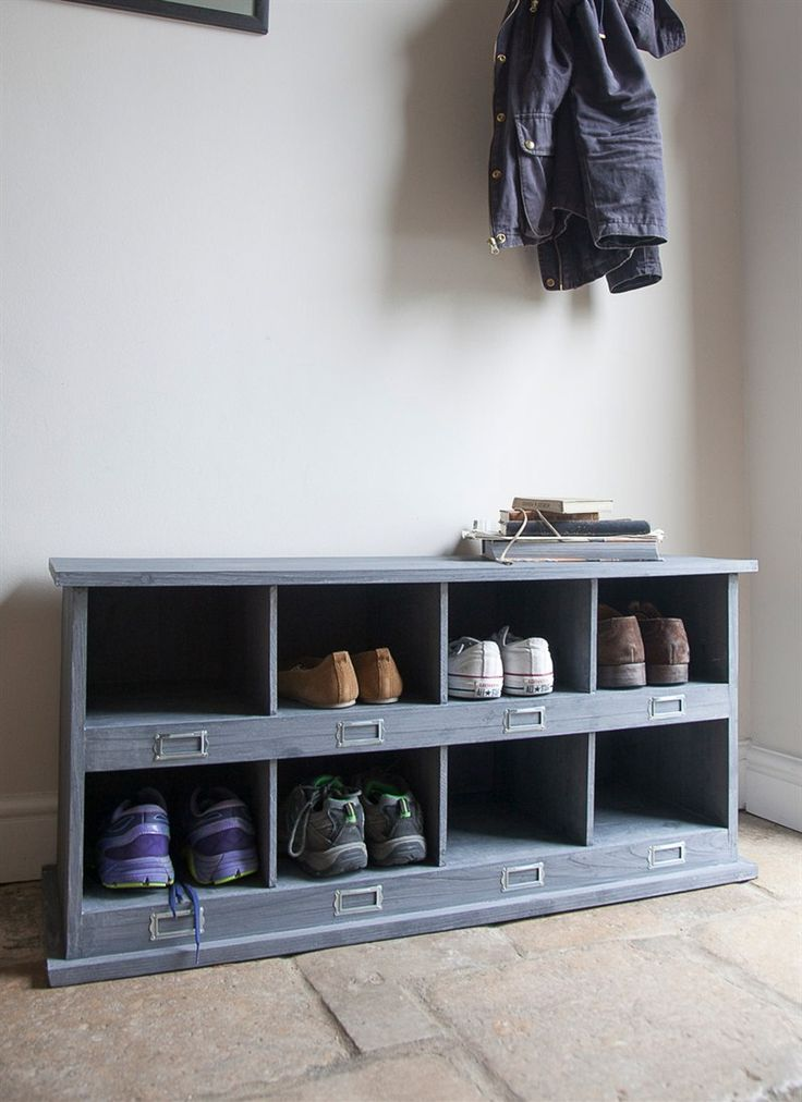 Chedworth Shoe Locker with 8 Cubby Holes in Charcoal by Garden Trading