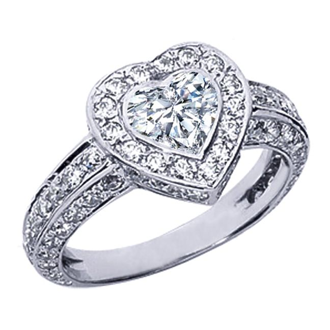 The 25 best Heart shaped rings ideas on Pinterest Heart ring