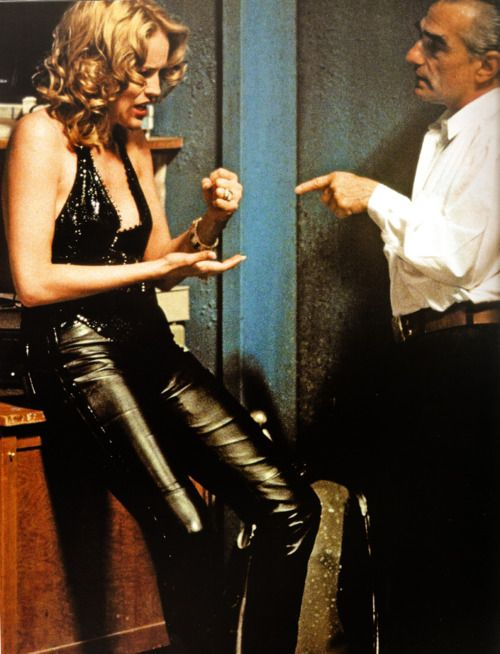 Casino_martin scorsese and sharon stone on the set of Casinò