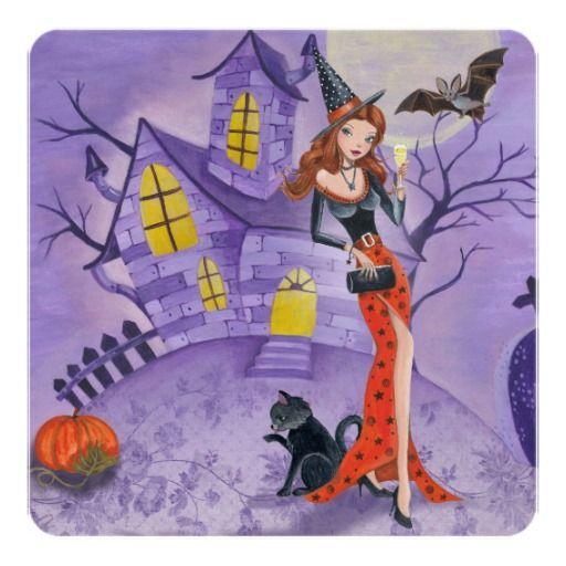 Halloween Witch – Party Invitation | Zazzle.com – Nadabia Chagas