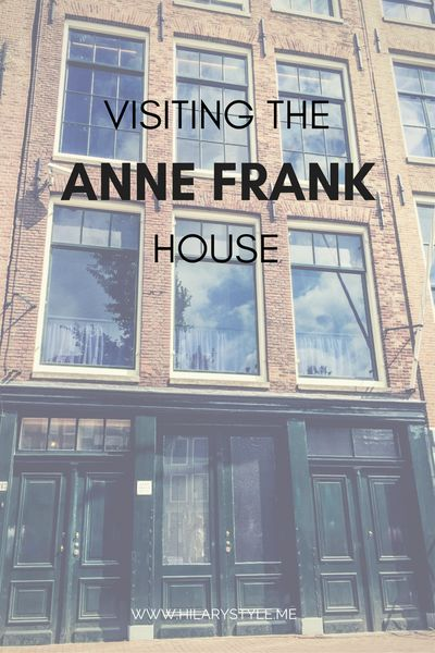 THRILLED BEYOND WORDS THAT I GOT TO SEE ANNE FRANK'S HOUSE IN AMSTERDAM!!