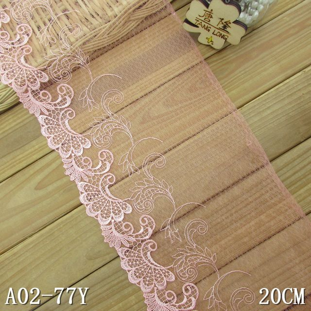 """3/"""" Floral Embroidered Trim//Lace with Cut Work x 1 Metre 39 colours"""