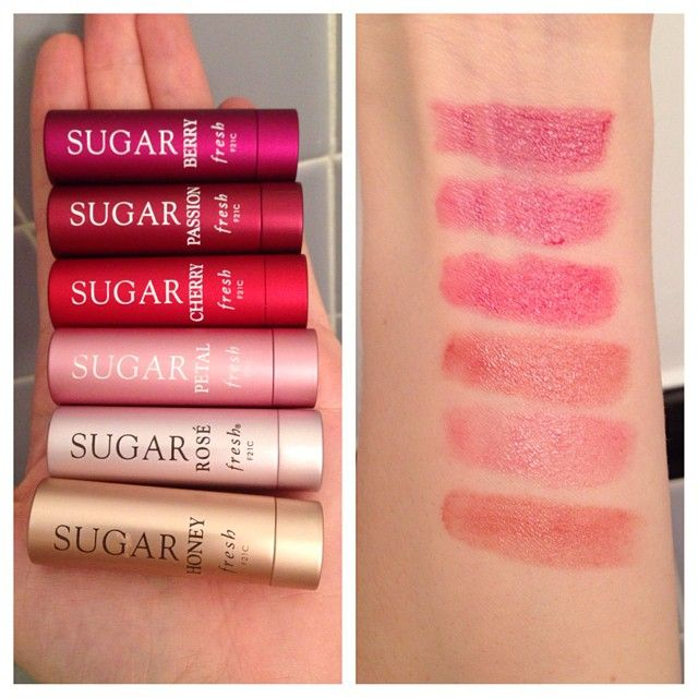 Fresh lip treatment swatches