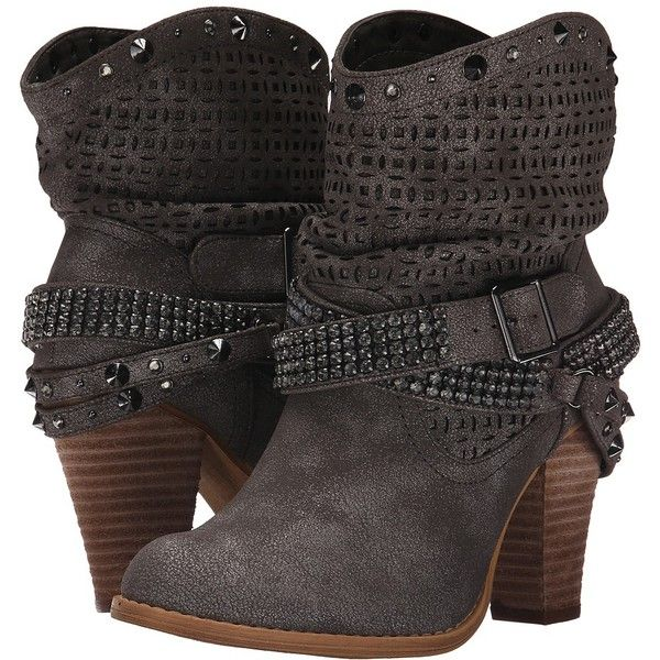 Not Rated Shiloh Women's Dress Boots ($85) ❤ liked on Polyvore featuring shoes, boots, knee-high boots, round toe boots, round cap, stacked heel boots, not rated boots and platform shoes