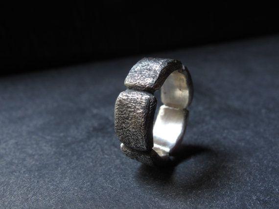 Anello fatto a mano realizzato in argento 925